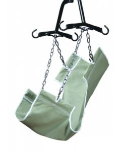 2-Point Slings Canvas Fabric, Without Commode Opening, 220 lb. Weight Capacity