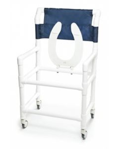 PVC Shower Commode Chair 22""