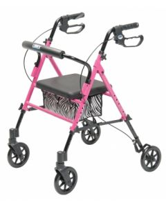 Set n' Go Height Adjustable Rollator - Pink (Limited Edition)