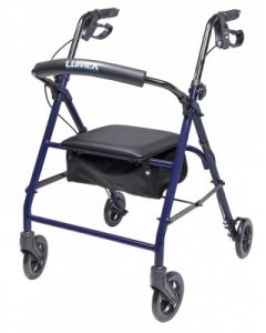 Walkabout Essentials Four Wheel Rollator Blue