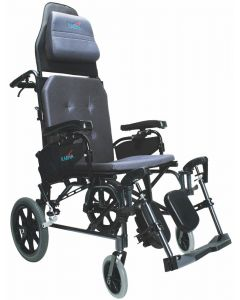 "MVP502 16"" seat Lightweight Ergonomic Reclining Transport Wheelchair"