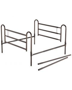 Powder Coated Home Bed Rails with Extender