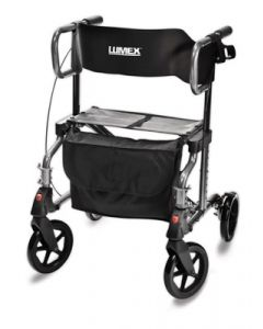 HybridLX Rollator Transport Chair - Titanium
