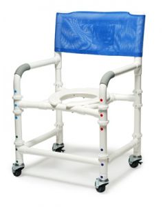"PVC Shower Chair/Commode Lumex 26"" PVC Bariatric Shower Commode Chair"