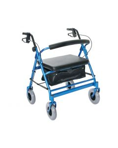 Heavy Duty Four Wheel Walker - Supports up to 500lbs.