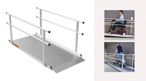 GATEWAY™ Solid Surface Ramp With Handrails
